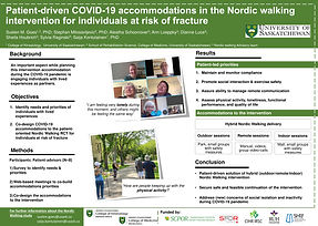Patient-driven COVID-19 accommodations in the Nordic walking intervention for individuals at risk of fracture