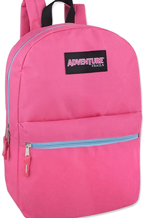 """Backpack, Adventure Trails 17"""", Red or pink"""