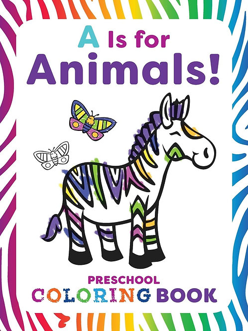 Coloring Book, A is for Animals