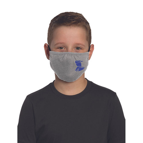 7 - Youth Troopers Face Mask, light heather gray