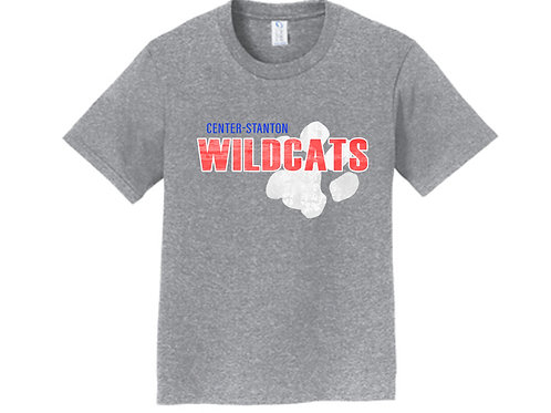 Center-Stanton Wildcats Youth T-shirt, Heather