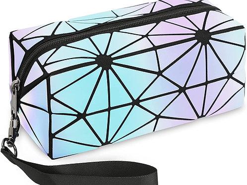 Pencil bag, Geometric Reflective Pattern