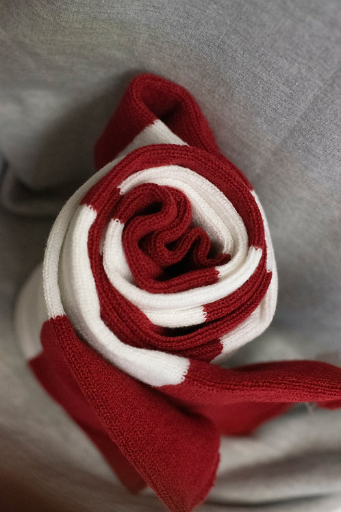 Washburn Cardinal Red & White Scarf
