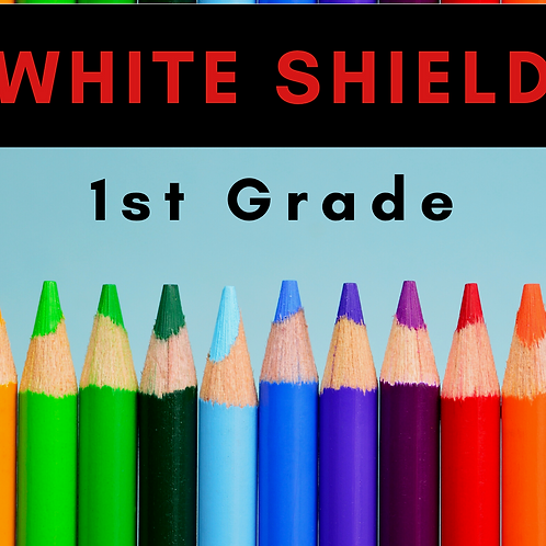 White Shield First Grade School Supply Package