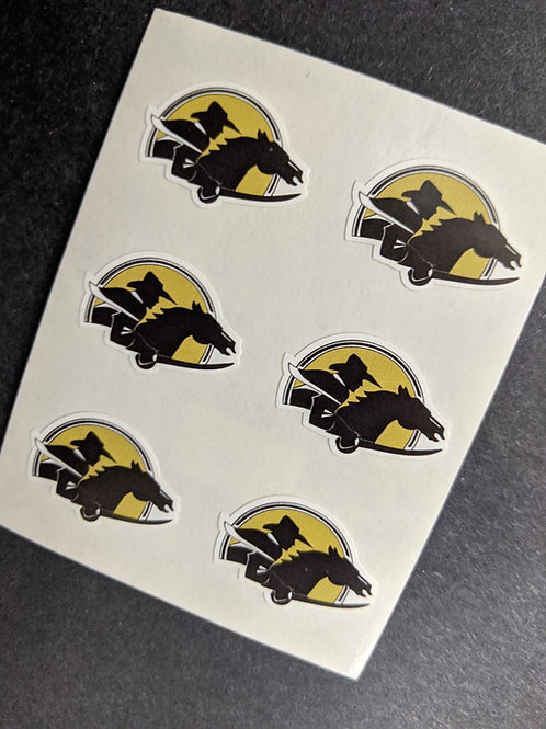 Southern McLean Roughriders Facecal Face Stickers, 3 sets