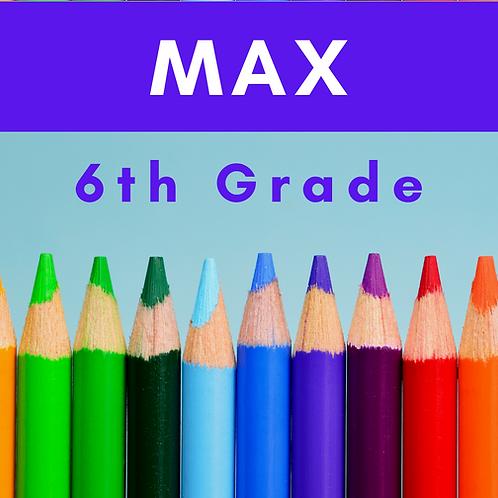 Max Sixth Grade School Supply Package