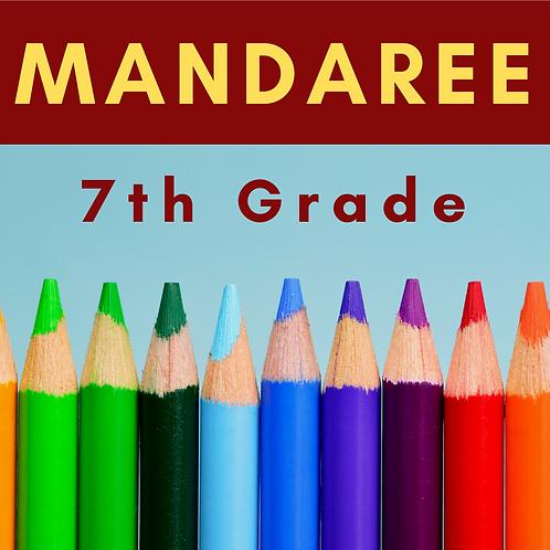 Mandaree Seventh Grade School Supply Package