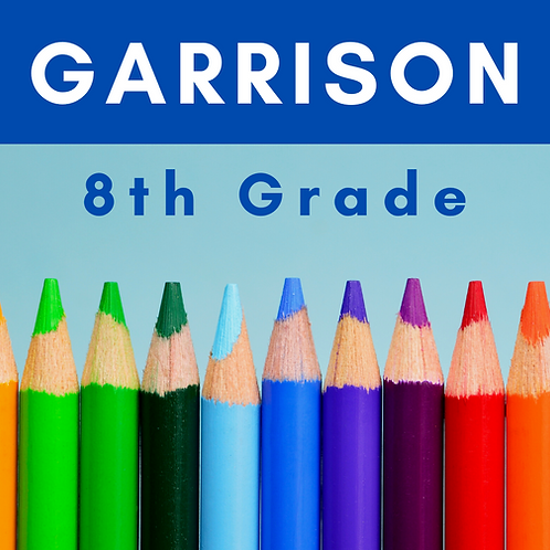 Garrison Eighth Grade School Supply Package