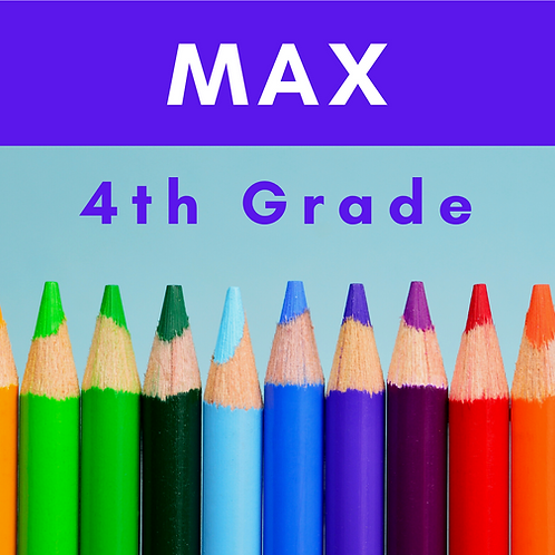 Max Fourth Grade School Supply Package