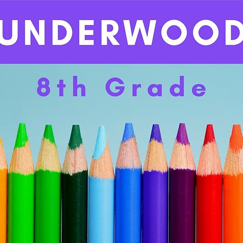 Underwood Eighth Grade School Supply Package