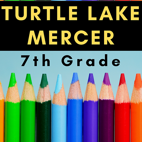 Turtle Lake-Mercer Seventh Grade School Supply Package