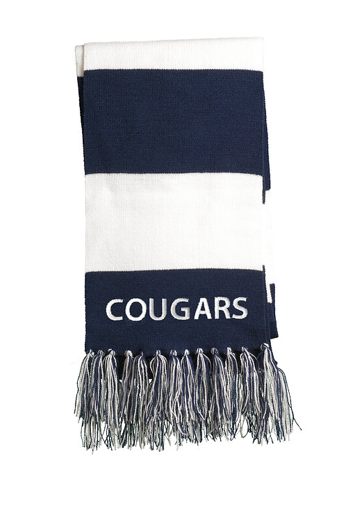 Central McLean Cougars Scarf, Navy and White