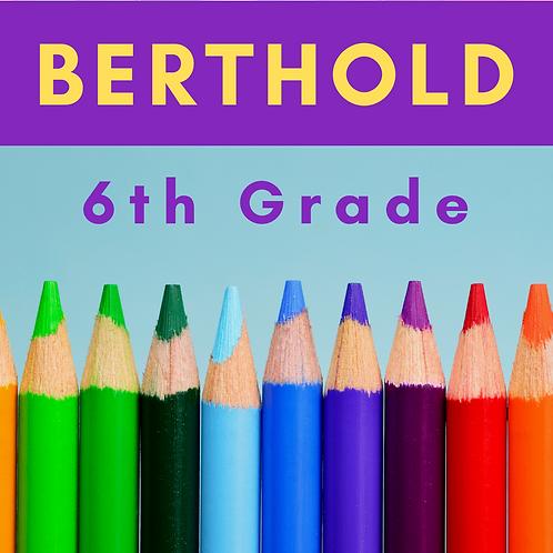 Berthold Sixth Grade School Supply Package
