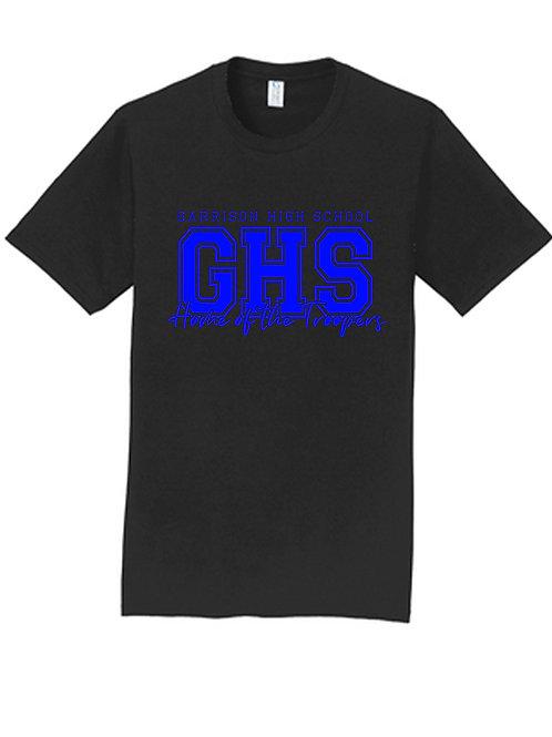 C - Troopers Short Sleeve T-shirt, Black