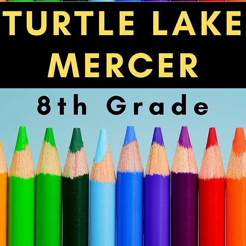 Turtle Lake-Mercer Eighth Grade School Supply Package