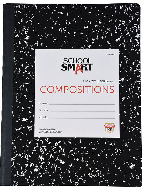 Ruled Composition Book, 9-3/4 x 7-1/2 Inches, 100 Sheets