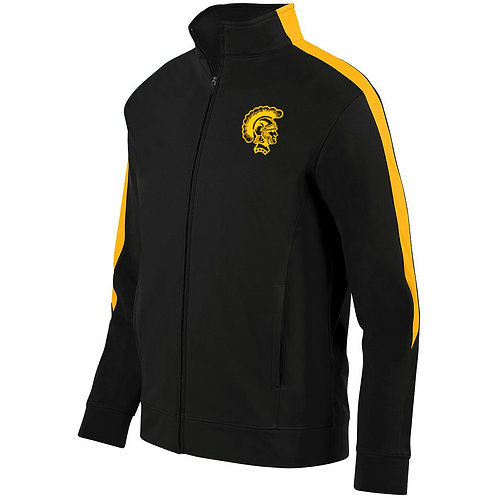 10 - Trojan Medalist Jacket, Black and Gold