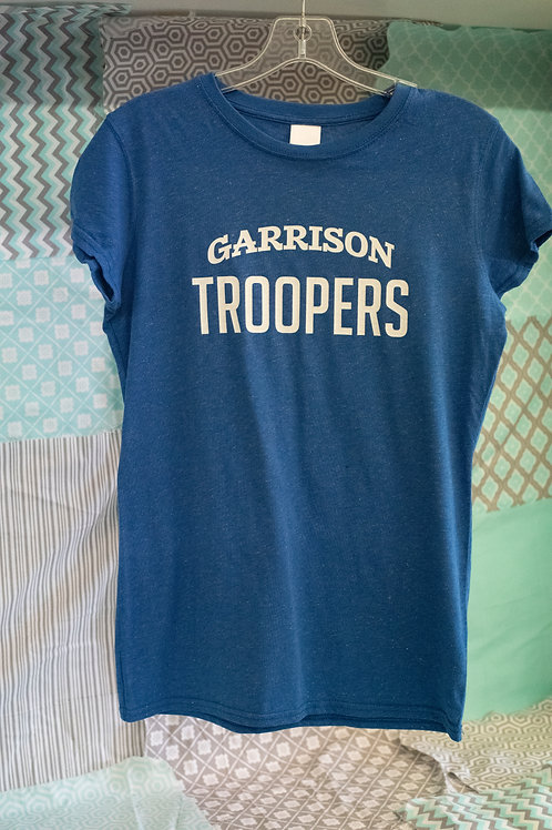 J America Ladies Glitter T-Shirt, Garrison Troopers