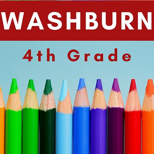 Washburn Fourth Grade School Supply Package