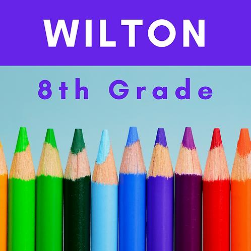 Wilton Eighth Grade School Supply Package