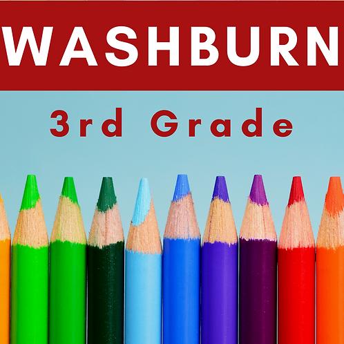 Washburn Third Grade School Supply Package