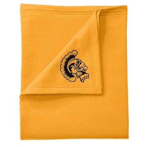Turtle Lake-Mercer Trojans Blanket, Gold