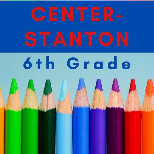Center-Stanton Sixth Grade School Supply Package
