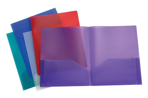 Folder, Dual-pocket, Plastic