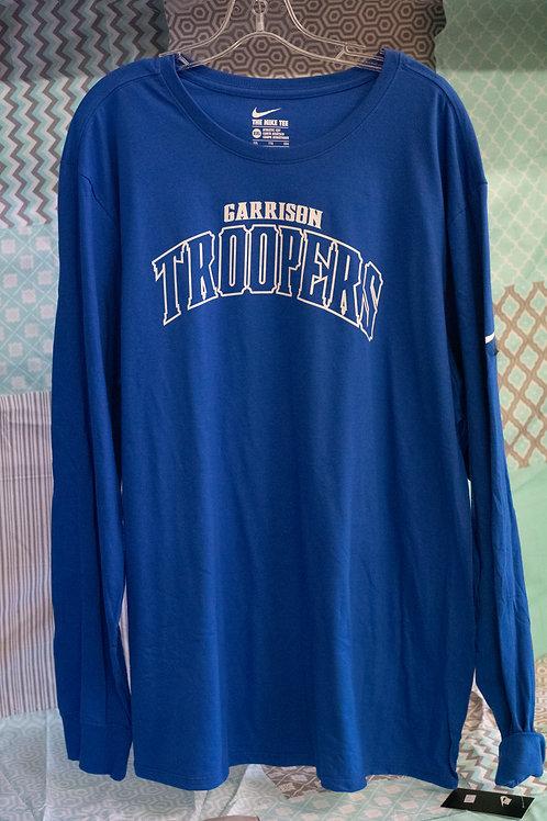 Nike Garrison Trooper Royal Blue Longsleeve Tee, Trooper Line Design
