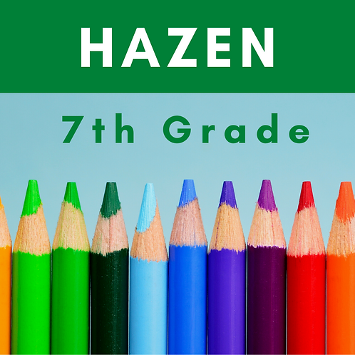 Hazen Seventh Grade School Supply Package