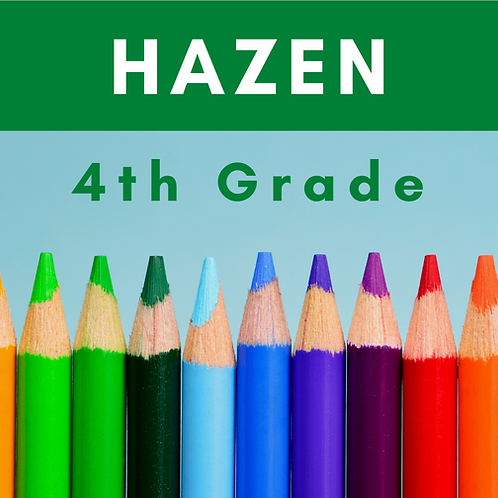 Hazen Fourth Grade School Supply Package