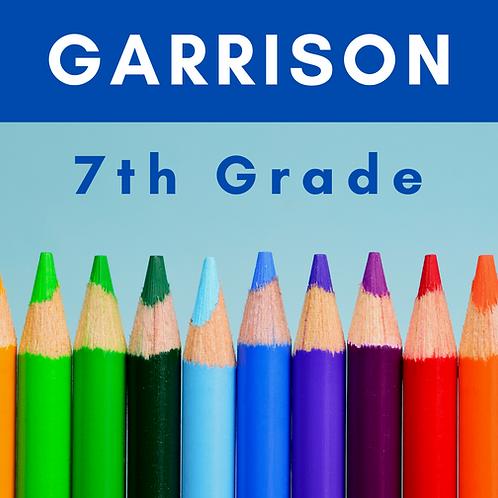Garrison Seventh Grade School Supply Package