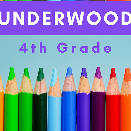 Underwood Fourth Grade School Supply Package