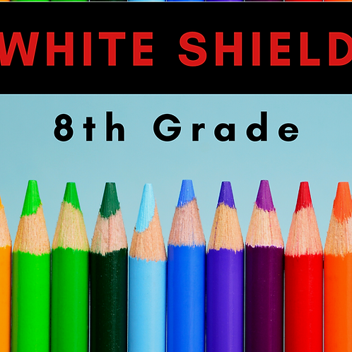 White Shield Eighth Grade School Supply Package