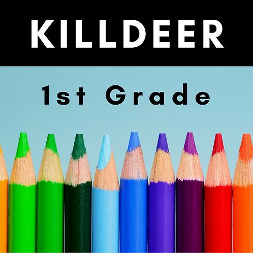 Killdeer First Grade School Supply Package