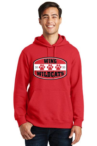 Wing Wildcats Hoodie, Red