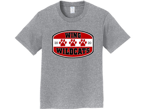 Wing Wildcats Youth T-Shirt, Heather