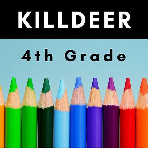 Killdeer Fourth Grade School Supply Package