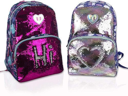 Sequin backpack, Multiple designs