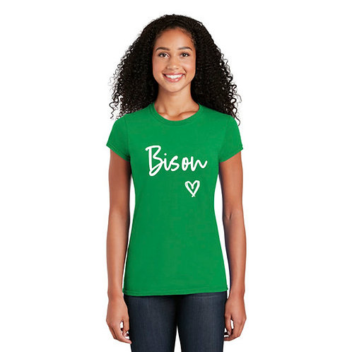 Ladies Hazen Bison Heart T-shirt