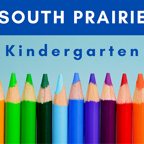 South Prairie Kindergarten School Supply Package