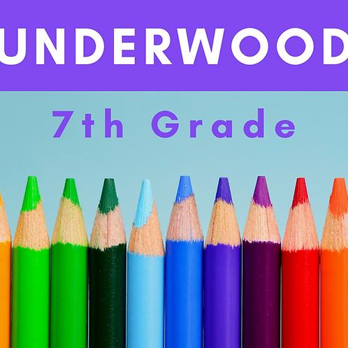 Underwood Seventh Grade School Supply Package