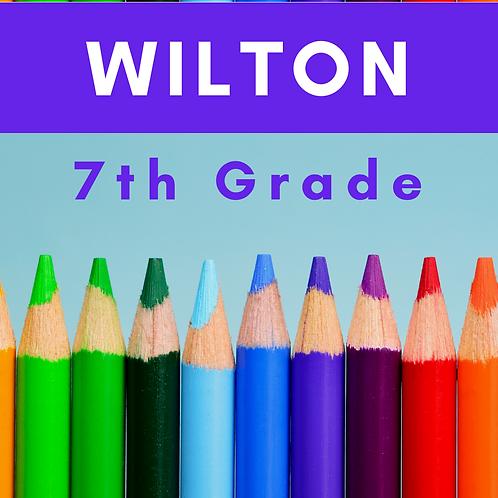Wilton Seventh Grade School Supply Package