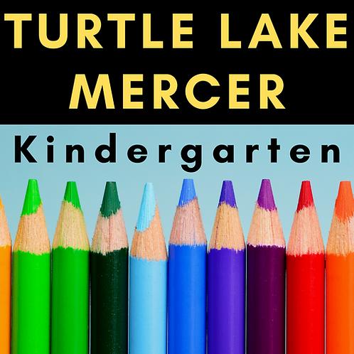 Turtle Lake-Mercer Kindergarten School Supply Package