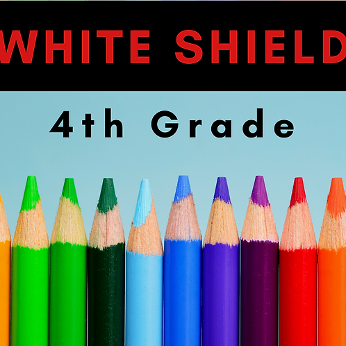 White Shield Fourth Grade School Supply Package