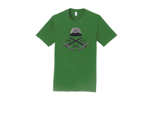 Stand With Coal Hard Hat T-shirt, Choice of Color