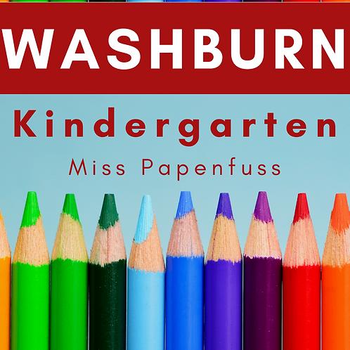 Washburn Kindergarten School Supply Package, Miss Papenfuss
