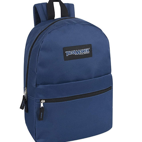 """Trailmaker Solid-print backpack, 17"""", Choice of 13 colors"""