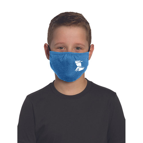 6 - Youth Troopers Face Mask, heathered royal