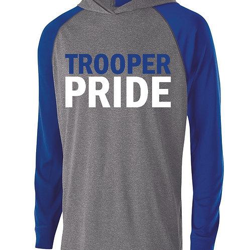 Q - Troopers Holloway Echo Hoodie, Graphite & Royal